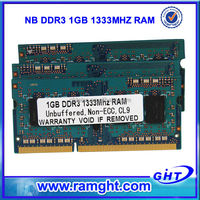 Malaysia export products ETT chips 1gb ddr3 ram notebook