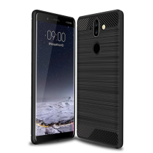 Carbon Fiber Soft TPU Shockproof Back Cover Case For Nokia 9 / 8 Sirocco