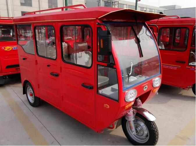 >800W Motor 3 Wheel Electric Bike Tricycle / Pedal Electric Rickshaw To Load Passengers