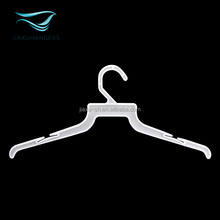 Factory price poplar white plastic clothes hanger for garment store