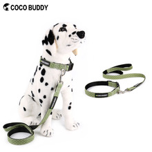 Fashion white dots pet dog leash with matching collar best alibaba pet supplier