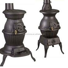 Cast Iron Wood Stove Type Wood Burning Fireplaces pot belly cooking stove