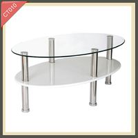 Wrought iron console table imported furniture china round tempered glass dining table CT010
