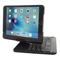 Classic Black Silver Design Cover case 360 Degree Rotatable Bluetooth Keyboard For iPad Mini 1/2/3