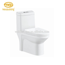Dealer price siphonic jet one-piece floor mounted western school toilet prices