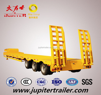 Super Low Bed Semi Trailer Chassis with 60-80 Tons payload