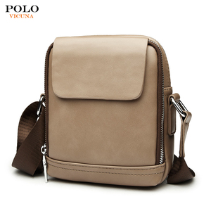VICUNA POLO Wholesale Fashion Mini Crossbody Pack Men Convenient Sling Satchel Bag for Summer PU Leather Blank Men Messenger Bag