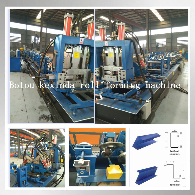 Steel profile C Z purlin roll forming machine prices