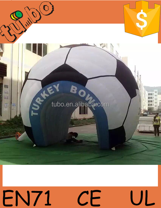 cheap customized inflatable bubble dome tent / inflatable soccer tent / inflatable tube for sale