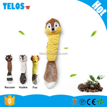 Strip plush squeaky pet dog toy