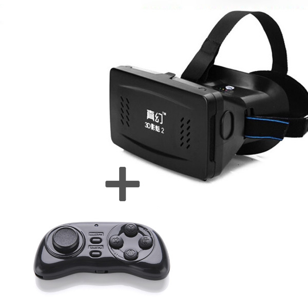 Smart Phone Bluetooth Wireless Mouse Gamepad + Head Mount Plastic Version 3d VR Virtual Reality Glasses Google Cardboard 3D