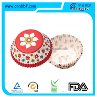 Disposable custom design paper cake cups greaseproof paper baking cups