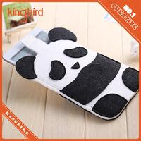2015 hot selling fashion design panda phone case black and white