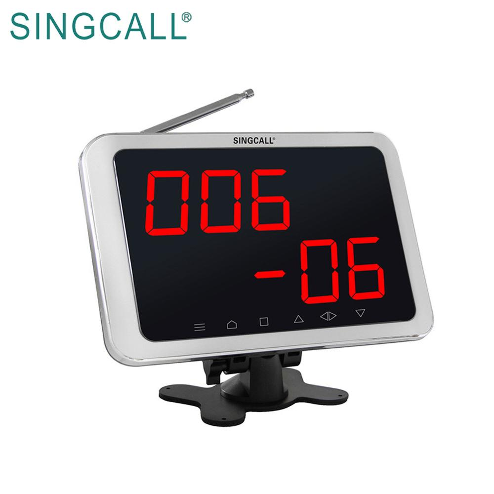 SINGCALL wireless waiter service paging system, service table button call system restaurant APE1800 white