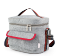 New Portable Thermal Insulated Cooler Lunch Bags Large Capacity Felt Tinfoil Picnic Bag Tote Box for Kids Women Men