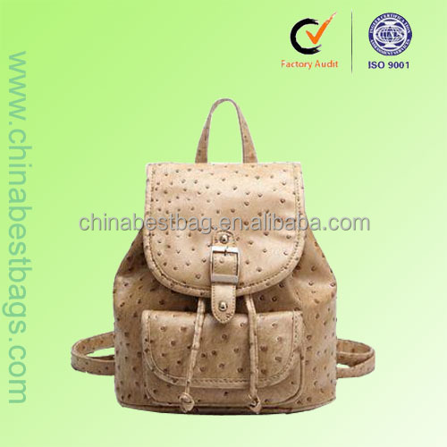 2014 most popular ostrich leather backpack women