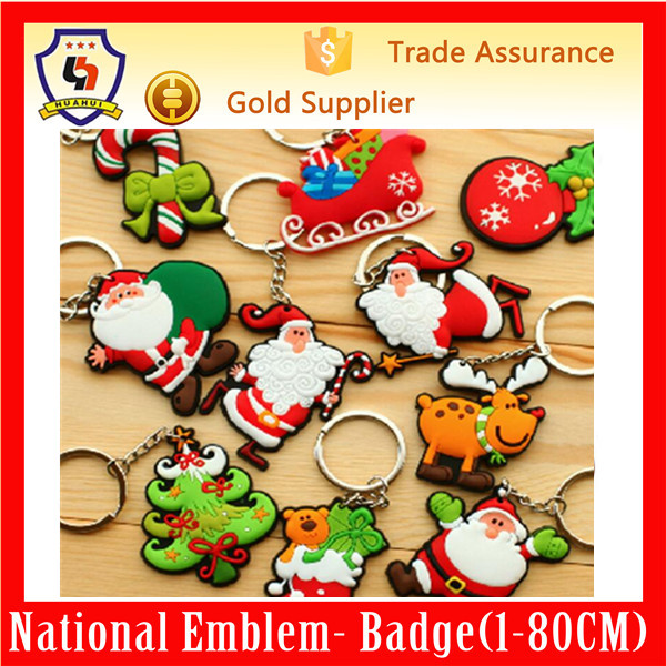 new year promotional gift Christmas rubber key chains for sale (HH-key chain-709)