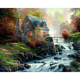 h862 5d diamond painting kit, Fantasy house diamond painting square