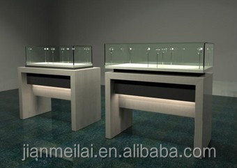 china factory Wooden Jewelry Display Case jewelry store showcase display cabinet