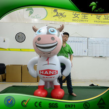 Cartoon Character Design Advertising Inflatable Super Milk Cow Model with Logo Prinitng for Advertising