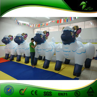 Recently Finished Perfect Inflatable Sheep ,4 Fat Funny Newest Design Inflatable Sheep Shape