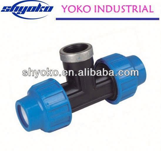 2014 China high quality PP coupling fittings Pipe Fittings industrial aluminium profile accessori
