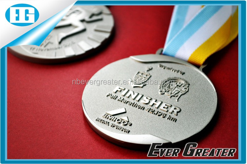 Custom metal medal for souvenir, cheap sports medal with ribbon, design your own medal