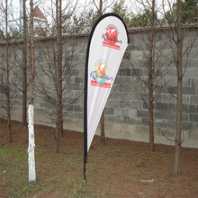 wholesale decorative promotional usage teardrop flag with pole and holder