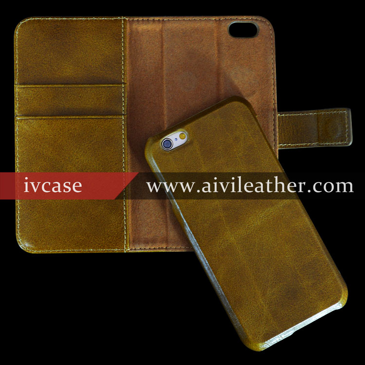 Universal Leather Case For Mobile Phone Iphone6 Plus Cover Cases Detachable Wallet Phone Case