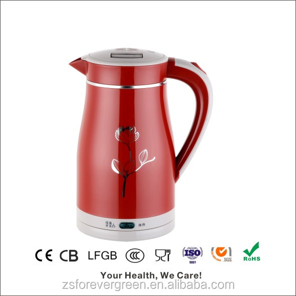 Plastic and stainless steel cheap rapid boil water cordless travel electric kettle