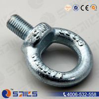 Galvanized forged lifting large din 580 eye bolt