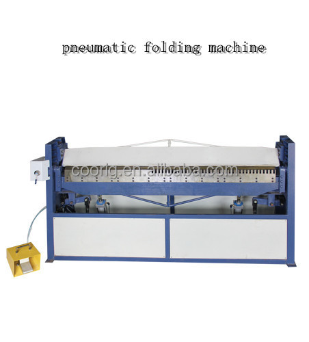 square duct forming machine, pneumatic folding machine