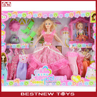 Hot sell plastic funny toy doll dolls for kids