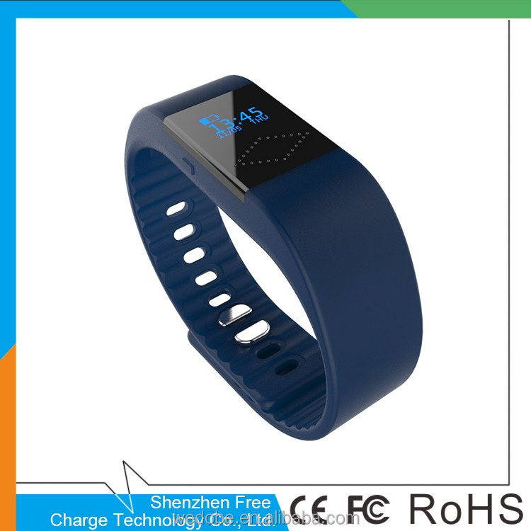 healthy Silicone Wristband Time/Caller ID/alarm/Pedometer IOS Android Sport bluetooth smart