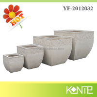 Tapered square angle architectural planters,exterior planters,pots and planters