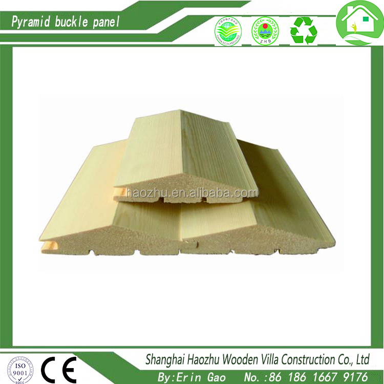 Pyramid buckle plate for wood house outside wall