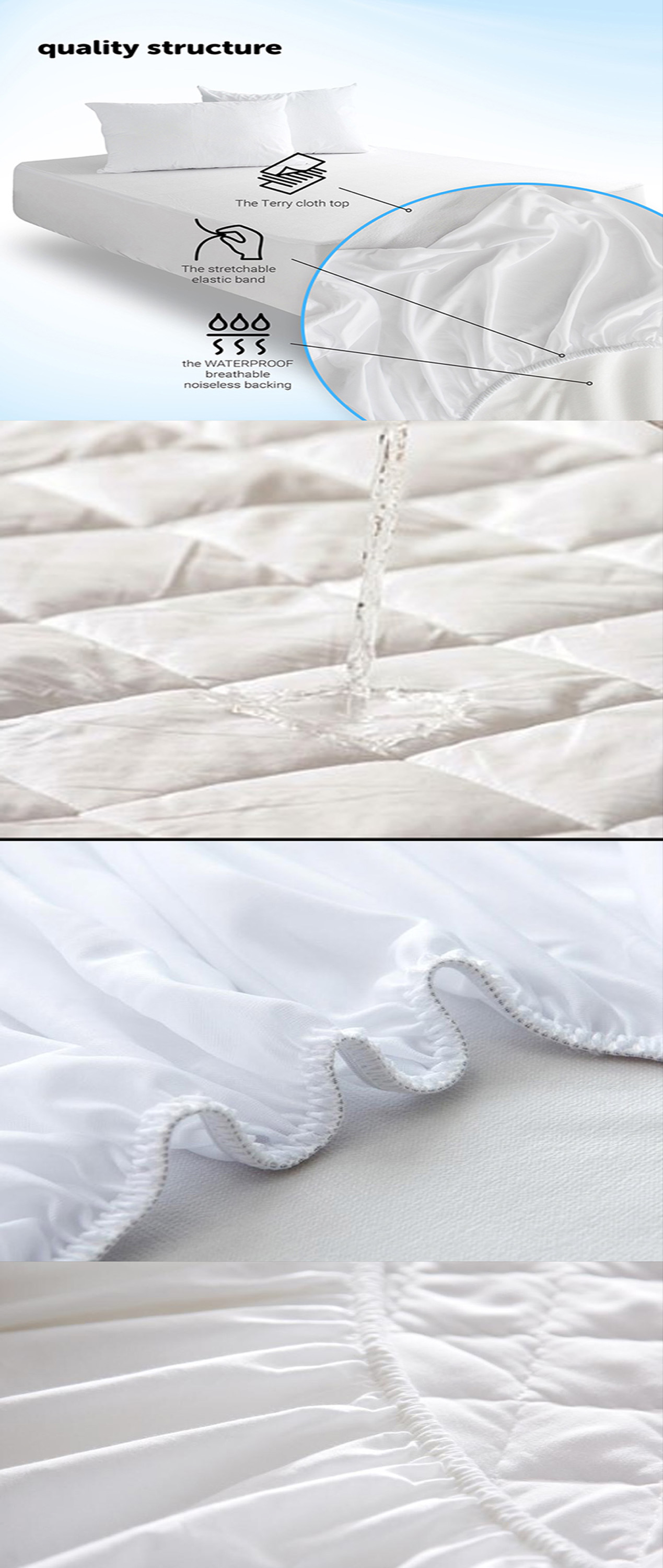 Manufacturer supply bed mattress protector Lining bed cover Lining bed mattress protector - Jozy Mattress | Jozy.net
