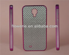 FL175 Knitting pattern Aluminum Carbon fiber combo frame case for samsung galaxy s4 i9500