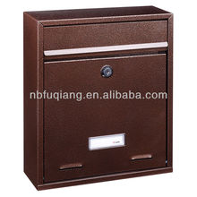 FQ-174 small size wall mounted apartment metal mailbox, letterbox, postbox