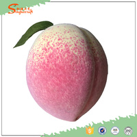 2016 new Wholesale Honey peach artificial fruit for decoration