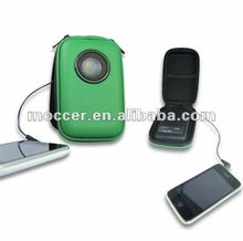 Cost efficient for iPhone Speaker bag with PU cover and Built-in rechargeable battery