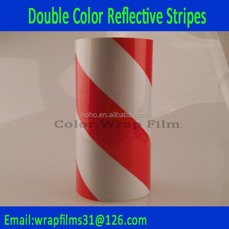 red&yellow safety colorful strips 45degree Reflective Acrylic taps 50mm distance