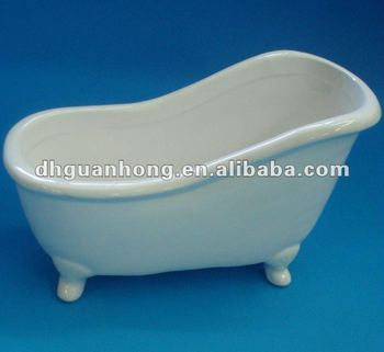April new arrival Ceramic mini bathtub soap dish