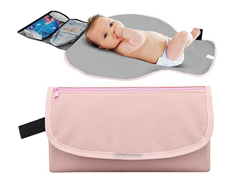2019 Eco-friendly PU Leather Portable Diaper Changing Pad Waterproof Travel Changing Pad <strong>Baby</strong>