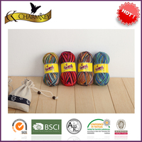 Space dyed top quality soft wholesale sock yarn for hand knitting