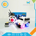 hot 2 channel cute cartoon transparent wheels mini rc car with light music