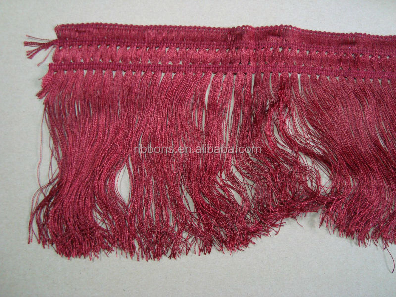 hot selling white fringe trimming with plastic trim for garments
