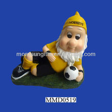 Fancy resin lying down football gnome