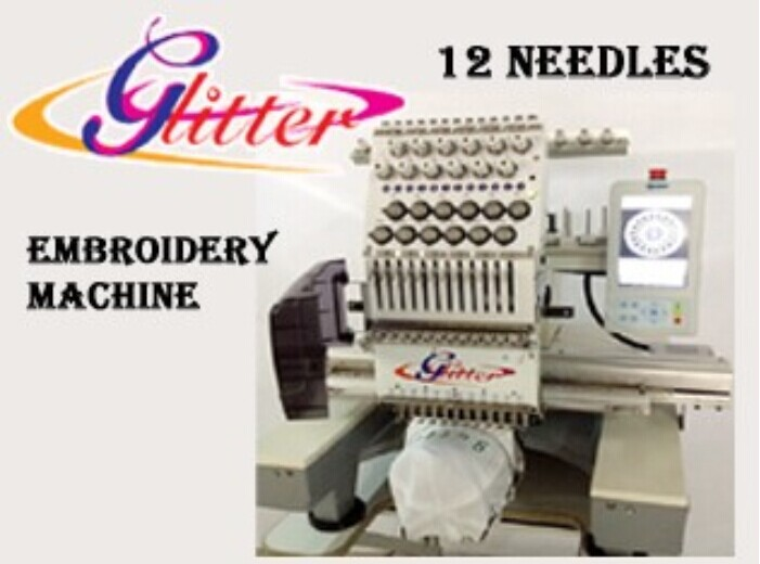 Glitter Cheap price T-shirt and cap single head embroidery sewing machine singer