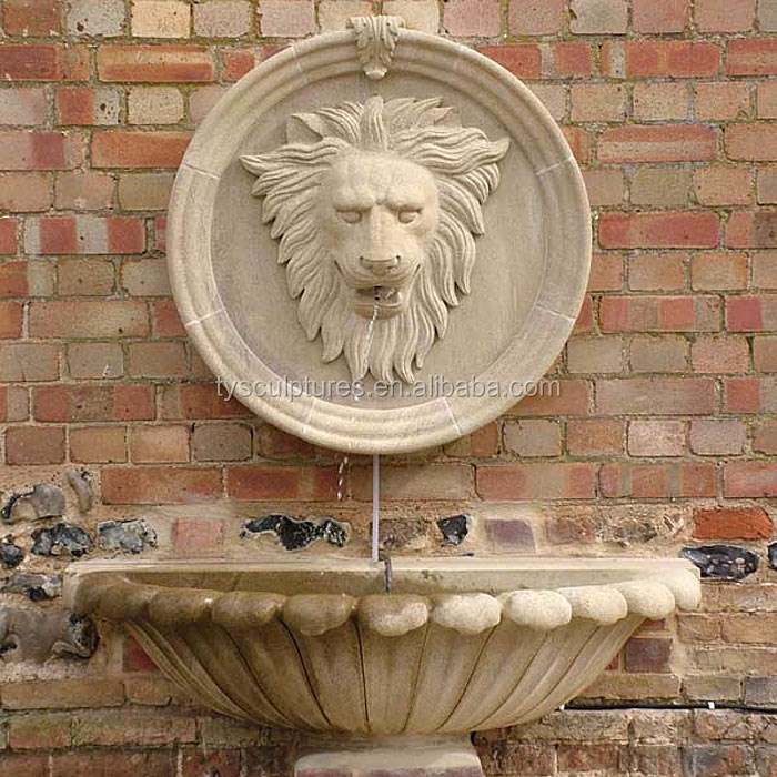 Hand-Carved-stone-lion-head-fountain